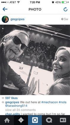 Gregory Michael Cipes and Tara Strong at MechaCon 2014.