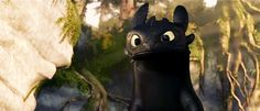 Toothless gif, from HOW TO TRAIN YOUR DRAGON. - Love this film.