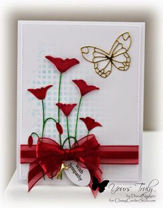 Poppy Sympathy card by Diana Nguyen