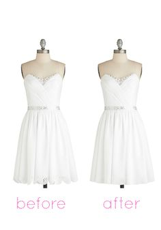 Ice Sculptress Dress, #ModCloth cute idea I just don't know about the length for the wedding