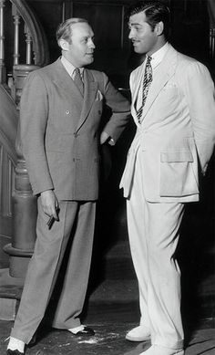 Famous men who have donned Oxxford suits include Clark Gable (on right, pictured with Jack Benny). Hollywood Fashion, Hollywood Glamour, Hollywood Stars, Golden Age Of Hollywood, Vintage Hollywood, Classic Hollywood, Clark Gable, Classic Movie Stars, Classic Movies