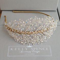 Kelly Spence Filigree Headband Crystal on Blonde