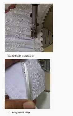 Just Sweet and Simple: Tutorial : Jahit Telekung Sewing Hacks, Sewing Tutorials, Sewing Crafts, Sewing Projects, Sewing Patterns, Projects To Try, Hijab Tutorial, Knitting, Simple