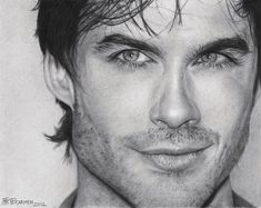 Ian Somerhalder by carmenharada on deviantART  **  I WISH I could draw even half as good.  And face it - this is one pretty piece of art :-)  **