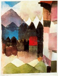 Paul Klee - Foehn en el jardin de marc 1925