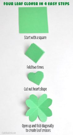 How to make a paper four leaf clover in 4 easy steps | Club Chica Circle - where crafty is contagious
