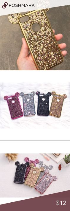 ♡ New Mickey Glitter Phone Cases ( Gold ) ♡ New Mickey Mouse glitter phone cases ( Gold )  ♡ Available for iPhone 6/6s, iPhone 6/6s Plus, iPhone 7/8, iPhone 7/8 Plus, iPhone X, and Samsung Galaxy S8  ♡ Cases are lightweight and flexible. Glitter is secure so won't fall off.    Check out my etsy for discounted shipping! Link in my about me.   ♡ Any questions please feel free to ask.  Accessories Phone Cases #iphone6splus,