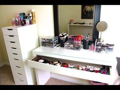 Makeup Collection  Storage! UPDATED Casey Holmes - http://www.box-of-fashion.com/makeup-collection-storage-updated-casey-holmes/