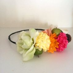 Summer's Samantha Flower Crown by FlowerAndTheBear on Etsy