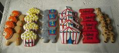 Circus themed decorated cookies Made by Pastry Chef Yolanda- www.Facebook. com/PastryChefyolanda