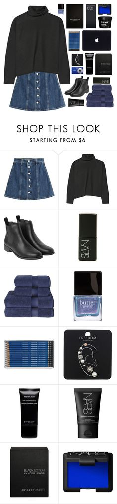 """you have no idea just how i got here"" by acquiescence ❤ liked on Polyvore featuring AG Adriano Goldschmied, Marni, Monki, NARS Cosmetics, Fujifilm, Christy, Butter London, Topshop, Givenchy and Ex Voto Paris"