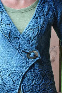 Ravelry: HeatherMPeterson's dramatic lace wrap cardigan