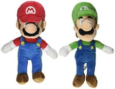 """Little Buddy Mario Plush Doll Set of 2 - 8"""" Mario and Luigi *** Details can be found at"""