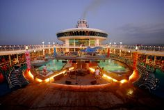 Cruise Photo of the Day - May 16, 2012 - Lido Deck at dusk.  Mariner of the Seas. CruiseCrazies.com Cruise Photos