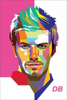 David Beckham - WPAP style illustration