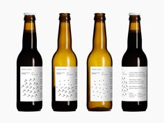 Mikkeller + Bedow Seasonal Beers by Bedow, 2012. Scope: #packaging