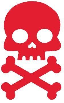 Red Skull and Cross Bone Bicycle Refl... $4.95 #bestseller