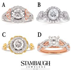 It's #WeddingWednesday! Which of these #ForeverElegant engagement rings do you like best?