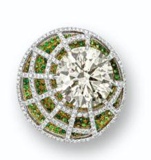 Something to drool over...Diamonds and Tsavorite Garnets.