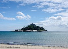 St. Michael's Mount From Marazion Beach - Marazion, Cornwall, England, UK