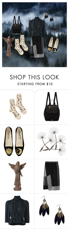 """In the Dark of the Forest"" by harpgoddess ❤ liked on Polyvore featuring Hansel from Basel, Marc Jacobs, Universal Lighting and Decor, Derek Lam and Dsquared2"