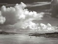Golden Gate, before bridge was built, California, photographed by Ansel Adams 1932: