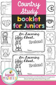 Ireland Country Study Booklet For Juniors By Beyond Imagination Perfect Teaching Young Ones Fun Facts About A Social Studies Lesson