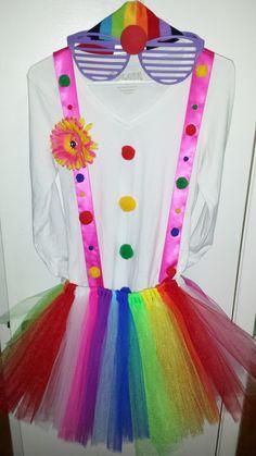 Simple DIY homemade clown costume.