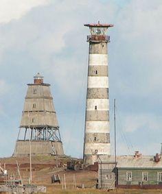 Ostrov Morzhovets Lighthouses, White Sea Throat, Nenetsia, Russia
