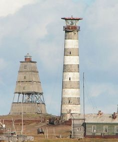 Ostrov Morzhovets Lighthouses, White Sea Throat, Nenetsia, Russia