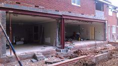 Loft Conversion Floor, Bungalow Conversion, House Extension Plans, Extension Ideas, Metal Roofing Prices, Single Storey Extension, Steel Trusses, Roof Detail, House Extensions