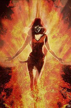 Death Becomes Her Dark Phoenix: Unknown Artist Marvel Comic Books, Marvel Dc Comics, Comic Books Art, Comic Art, Ms Marvel, Captain Marvel, Marvel Art, Jean Grey Phoenix, Phoenix Art