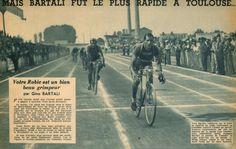 Tour de France 1948. 08-07-1948, 08^Tappa. Lourdes - Toulouse. Gino Bartali (1914-2000) vince in volata su Guy Lapebie (1916-2010) [Miroir Sprint] (www.cyclingpassions.eu)