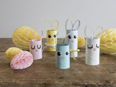 DIY - Paper rabbits for Easter by Sostrene Grene. Click at the picture for tutorial. Easter Crafts, Diy And Crafts, Crafts For Kids, Creative Kids, Creative Crafts, Rabbit Crafts, Rolled Paper Art, Papier Diy, Diy Ostern