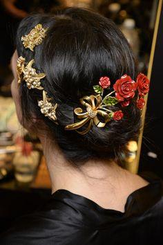 Hair at Dolce & Gabbana Fall/Winter 2015