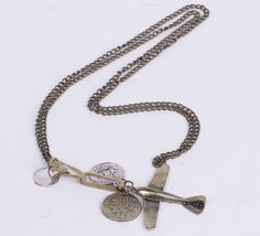 $1.79  39cm Sweater Chain Necklace Jewelry With Different Shapes Pendants Coppery