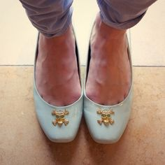 I think I could totally knock these off with a pair of flats I already have...although I have to say I'm loving the mint/gold skull combo