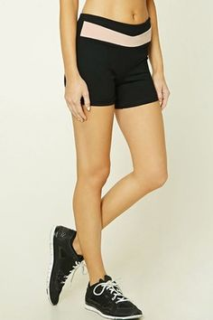 Shop Now - >  https://api.shopstyle.com/action/apiVisitRetailer?id=617781081&pid=uid6996-25233114-59 FOREVER 21+ Active Contrast Panel Shorts  ...