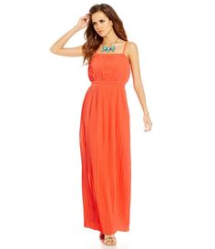 Gianni Bini Valerie Strapless Pleated Maxi Dress
