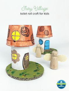 Toilet Roll & Foam Cup Fairy Houses - If your child loves fairies like my daughter does, I think you'll love this cute craft! Fairy crafts, fairy pretend play, fairy story starters – non-stop fairy fun! @mollymooblog for @pbsparents