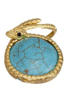 Grecian Medallion Snake Ring by Bansri on @HauteLook