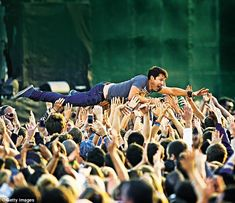 James Blunt crowdsurfs at the Invictus Games Closing Ceremony during the Invictus Games at...