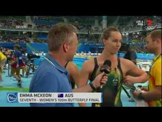 Devastated swimmer Emma McKeon teary in post race interview   Daily Mail...