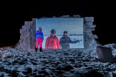 Masterpiece theatre: Fort McMurray man builds outdoor cinema out of snow Outdoor Cinema, Outdoor Theater, Movie Theater, Theatre, Masterpiece Theater, O Canada, International Festival, California Travel, Winter Looks