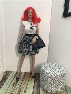 Handmade Skirt and Handbag 1:6 for Phicendoll