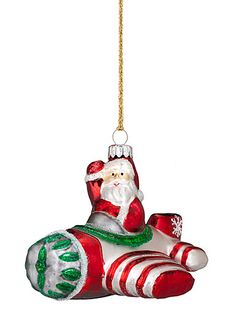 Marquis Heirloom by Waterford - Pilot Santa Ornament