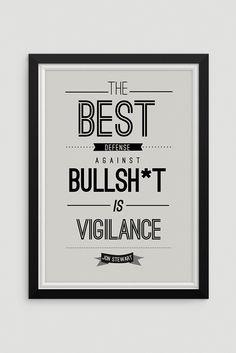 Jon Stewart Quote Print