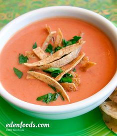 Eden Organic Foods Recipe - Tomato Tortilla Soup