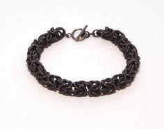 Byzantine Bracelet in Black Niobium by WindCloudChainmaille