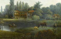 A view of the hamlet at the Petit Trianon by Pierre Joseph Wallaert, 1803. [credit: © RMN-Grand Palais (Château de Versailles) / Gérard Blot]